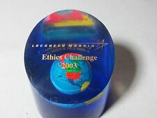 Lockheed Martin Ethics Challenge 2003 Acrylic Paperweight Globe