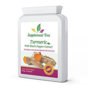 Turmeric 95% Curcumin and Black Pepper Extract 60 Capsules High Strength Tumeric
