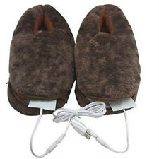 USB Heating Shoes Slippers Keep Feet Warm Electric Powered Shoes Coldproof NEW