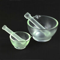 Borosilicate Lab 60mm-150mm glassware Chemistry Mortar Pestle