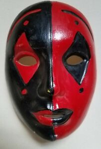 Hand Painted Plaster Mask Harlequin