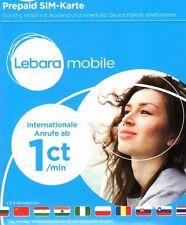 Aktiviert Lebara Prepaid Karte 10€ (7,50+2,50) guthaben  Telekom D Netz