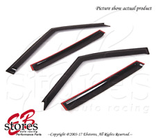 Smoke Tinted Out-Channel Visor Deflector 4pc For 1994-1998 Land Rover Discovery