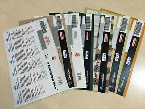ZELDA MARIO KART PARTY TENNIS KONGA Unused Nintendo VIP leaflets