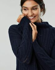 Joules Womens Jamie Cable Jumper - French Navy - 8