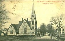 Danielson,CT. The Baptist Church and Academy Street 1925