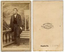 YOUNG MAN IN NICE SUIT BY CUMMINGS, LANCASTER, PA, ANTIQUE CDV