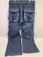 Vintage Energie Sixty Italy Denim Blue Jeans Mens Size 32x30 Straight Leg Rare