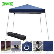 8'x8'Ez Pop Up Canopy Wedding Party Tent Folding Patio Gazebo Shade Shelter Blue