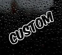 2 X CUSTOM # YOUR TEXT STICKER BUBBLE FONT DECAL  CAR/VAN personalised VINYL