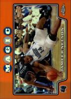 2008-09 Topps Chrome Refractors Orange Basketball Card #97 Jameer Nelson/499