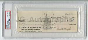 Orville Wright Historic Aviator Autographed Check 1929 PSA Slabbed Gem Mint 10