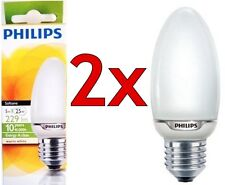 Philips 5w = 25w ES Warm White Screw Cap Light Bulb E27 CFL Candle Bulbs Lamps