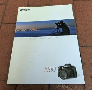 NIKON ORIGINAL 2000 N80 PRODUCT BROCHURE