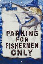 Marlin Parking Sign Wall Plaque Gifts Men Fishing Fishermen Fish Outdoor Safe