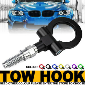 Black Track Racing Style Aluminum Tow Hook Ring Kit For BMW 1 3 5 6 X5 X6, MINI
