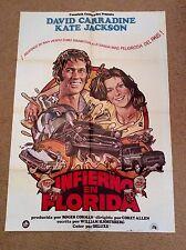 THUNDER & LIGHTNING Chevrolet Bel Air Movie Poster DAVID CARRADINE KATE JACKSON