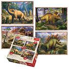 Trefl 4 In 1 35 + 48 + 54 + 70 Piece Boys Kids Dinosaurs Jigsaw Puzzle Set NEW