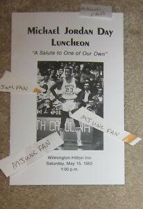 Michael Jordan Day 1982 Lunch Program Carolina TarHeels Bulls Basketball1984Rare