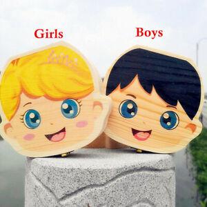 Wooden Teeth Storage Box Milk Tooth Fair Organizer Keepsake Gift Kids Boys Girls