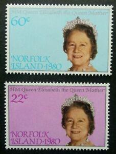 [SJ] Norfolk Island 80th Birthday Queen Elizabeth II 1980 Royal (stamp) MNH