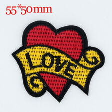 LOVE Design Embroidered Clothes Iron On Patches Sew Motif Appliques badge NEW