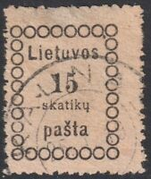 Lithuania 1918 Mi 4, Used, #1