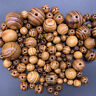 Wood Beads Charm Round Loose Spacer Bead For European Bracelet Jewelry DIY Lots