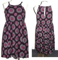 2X 18/20 New Challis Torrid Pink/Black Medallion Hi Lo Hem Sun Beach Tank Dress