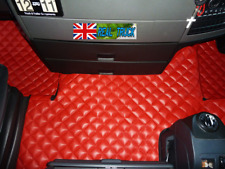 MAN TGX TRUCK ECO LEATHER FLOOR MATS SET-  TILL 67 PLATE - RED
