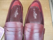 catesby size uk 9 brown leather loafers / boat shoes