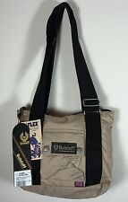 Authentic Belstaff Small Shopping Bag Stucco Color Zippered Top Belflex Nylon