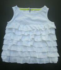 ❤ MINI BODEN girls white shirt size 1.5 2 ruffle cotton jersey FREESHIP