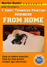 T Shirt Transfer Printing Tutorial DVD Start Your Own Home Business Heat Press