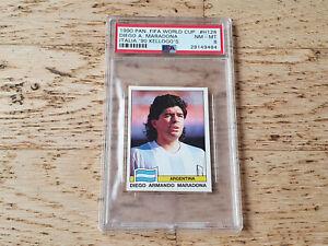 Panini 1990 World Cup Italia 90 KELLOGG´S card Diego Maradona #128, PSA 8 NM-MT