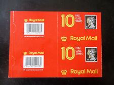 Bloc de 2 couvre 10 en première classe 20p Machin Penny Black Barcode brochure JD1