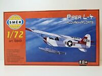 SMER 0949, Piper L-4 , Wasserflugzeug, USA, Bausatz, 50 Teile, 1:72,OVP,NEU
