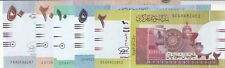SUDAN 2 5 10 20 50 POUNDS 2015 P-71 72 73 74 75 UNC SET */*