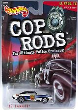 Hot Wheels Cop Rods '67 Camaro El Paso, TX #12 Police Cruiser 1/64 MOC 1999