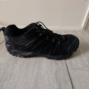 Merrell Mens Size 8.5 Black Grey Hiking Trail Shoes