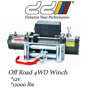DD Electric Recovery Heavy Duty Winch 12000lb 12V WITH Remote Control 5443KG