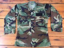 "US Military Combat Army Hot Weather Woodland Camo Long Sleeve Jacket Shirt S 43"""