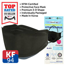 KF94 BLACK Face Protective Mask Made in Korea KFDA Approved Adult 4 Layers