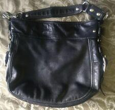 *Coach Zoe Leather Hobo Shoulder Bag Black (G0982-F12669)