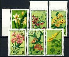 Saint Thomas and Prince Islands 1979 Mi. 568-573 Used 100% flowers