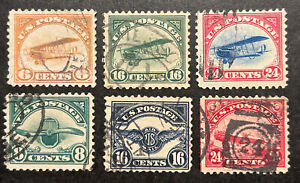 TDStamps: US Airmail Stamps Scott#C1-C6 (6) Used