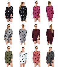 Viscose Stars Crew Neck Tops & Shirts for Women