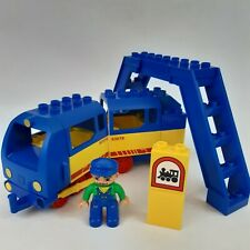 Lego Duplo Push Along Train + Carriage, Station Bridge & Driver Figure Bundle
