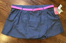 Free Country Swim Skirt Suit Womans 3X 24W Gray Pink Interchangeable NWT