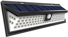 RV LED Solar Porch Light rectangle clear lens camper RV trailer Black exterior B